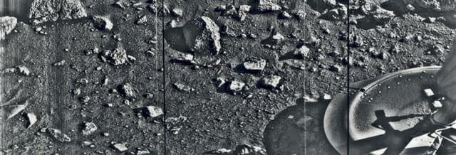 The first photo taken on Mars — 1976