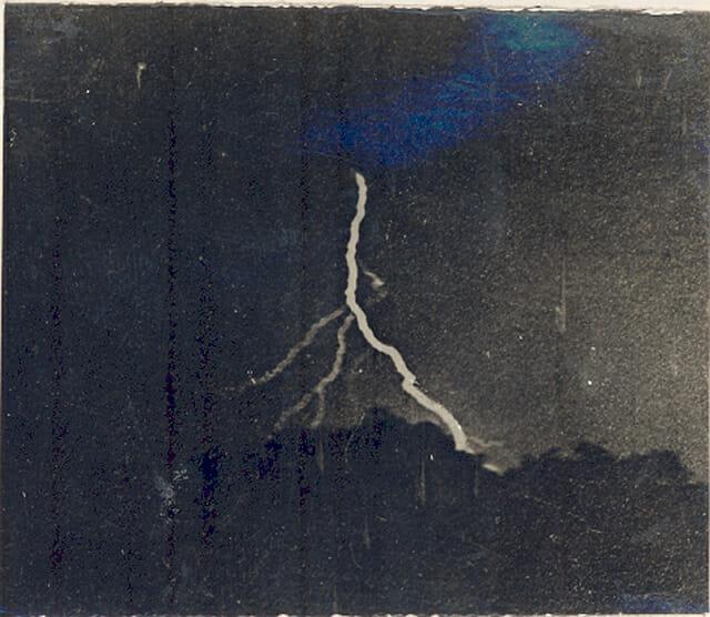 First photo of lightning