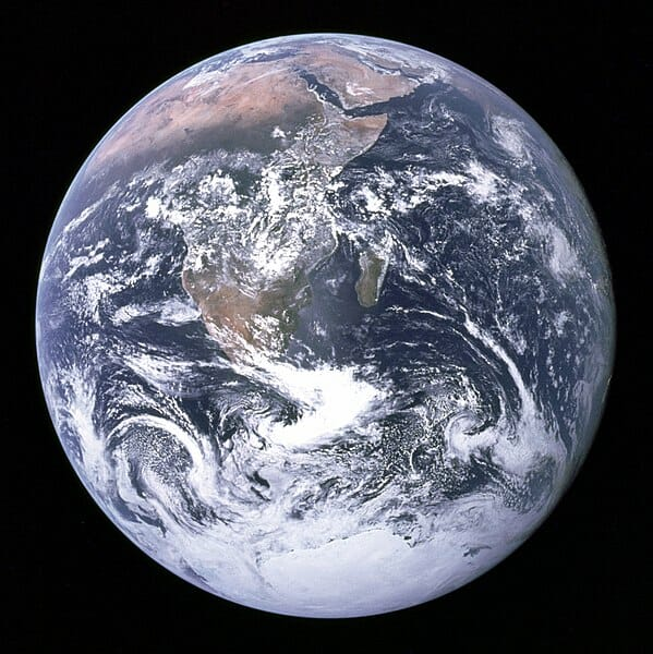 First photo of a fully lit earth — 1972