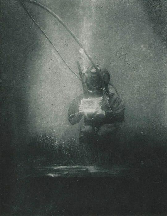 First underwater portrait