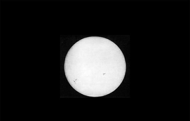 First photo of the sun