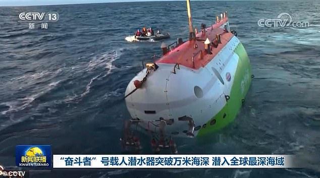 Tàu lặn Trung Quốc lập kỷ lục đưa người xuống đáy vực sâu nhất Trái đất - 1